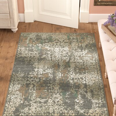 Forcalquier Gray Indoor Area Rug Rug Size: Rectangle 5 x 8