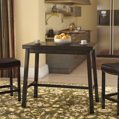 Cotaco Counter Height Pub Table Color: Antique Black