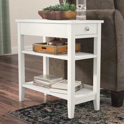 Greenspan End Table With Storage� Color: White