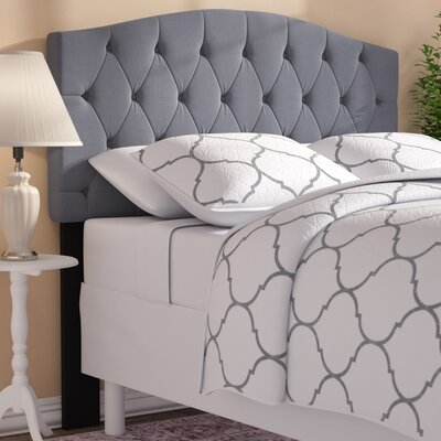 Buterbaugh Upholstered Panel Headboard Upholstery: Heather Gray, Size: Twin