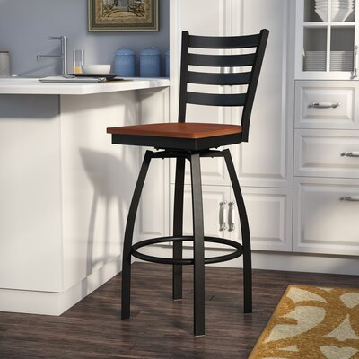 Alhambra 30.25 Swivel Bar Stool Seat Finish: Cherry