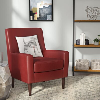 Donham Armchair Upholstery: Red