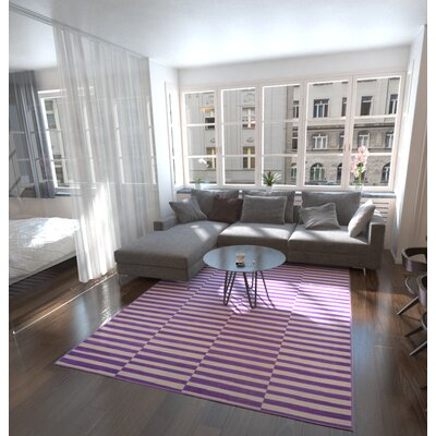 Braxton Purple Area Rug Rug Size: Rectangle 9 x 12