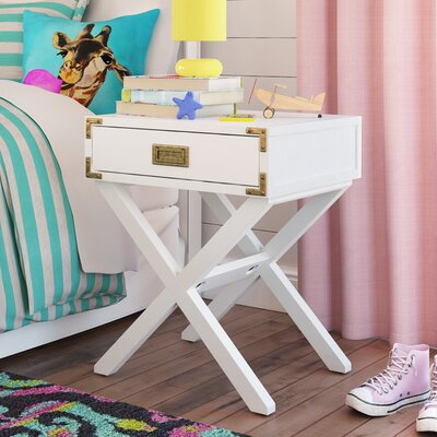 Agostino 1 Drawer Nightstand Finish: Classic White
