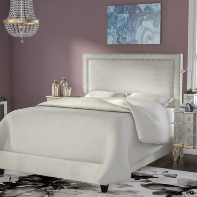 Hayley Upholstered Panel Bed Size: King, Color: Portsmouth Stone