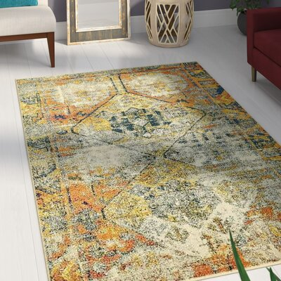Gloucester Southwestern Beige Area Rug Rug Size: Rectangle 106 x 165