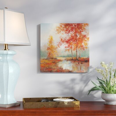 'Autumn's Grace II' Oil Painting Print on Wrapped Canvas Size: 24