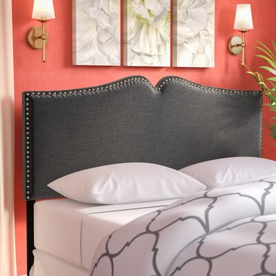 Ruhland Upholstered Panel Headboard Size: Queen, Upholstery: Dark Gray