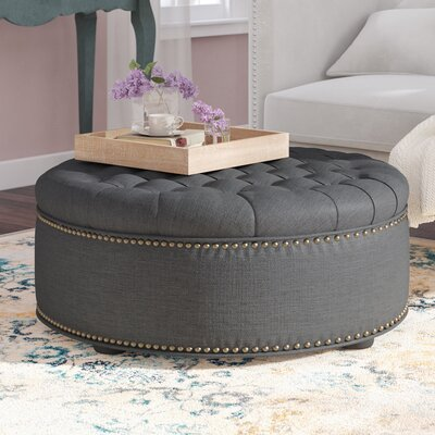 Cardere Cocktail Ottoman Upholstery: Gray