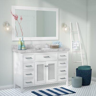 Hamil 49 Single Bathroom Vanity Set with Mirror Base Finish: White
