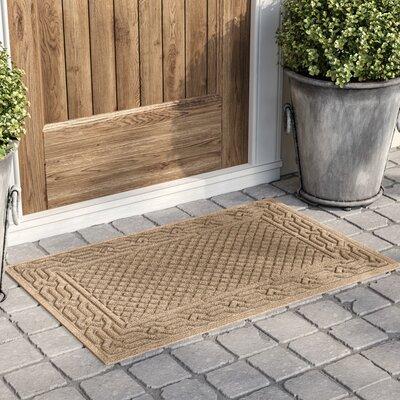 Olivares Acropolis Doormat Color: Medium Brown, Rug Size: Rectangle 24 x 36