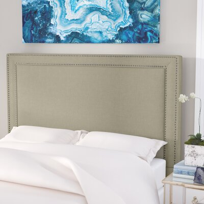 Hayley Upholstered Panel Headboard Size: Queen, Upholstery: Avignon Charcoal / Silver