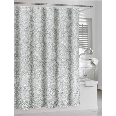 Sinclair Gray / White Shower Curtain Color: White