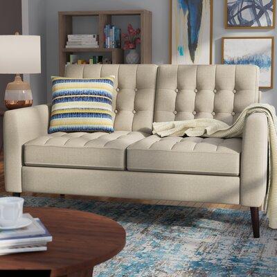 Starner Tufted Loveseat Upholstery: Beige