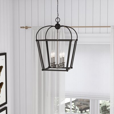 Gladding 4-Light Foyer Pendant Finish: Black/Brushed Nickel