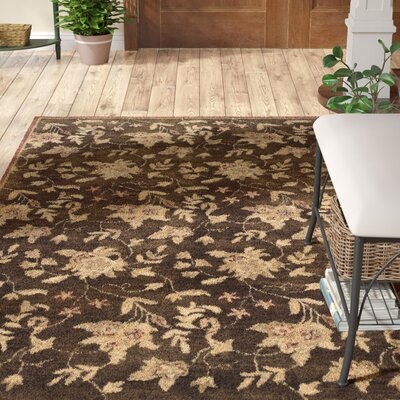 Goodrum Hand-Tufted Brown/Beige Area Rug Rug Size: Rectangle 5 x 8