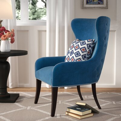 Alan Wingback Chair Upholstery: Teal