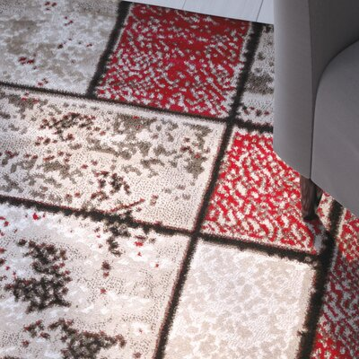 Giuliana Dusty Brick Red/Brown Area Rug Rug Size: 4 x 5