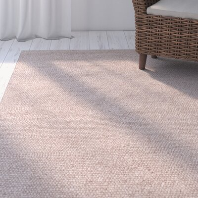 Southold Hand-Woven Wool/Cotton Tan Area Rug