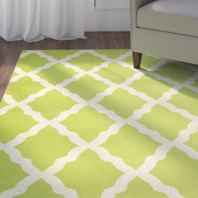 Staunton Lime Green/Ivory Area Rug Rug Size: Rectangle 5 x 66