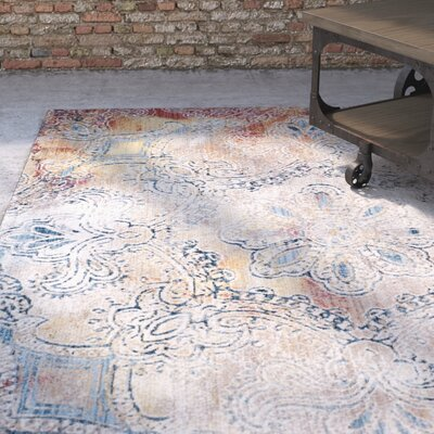 Foresta Blue/Red Area Rug Rug Size: Runner 23 x 8