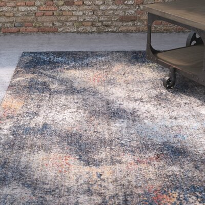 Foresta Blue/Brown Area Rug Rug Size: Rectangle 51 x 76