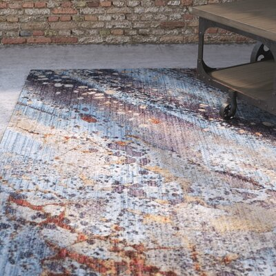 Foresta Purple/Blue Area Rug Rug Size: Rectangle 4 x 6