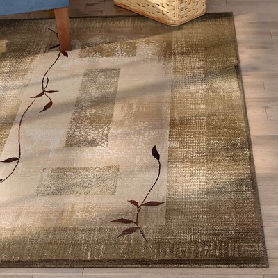 Bogard Brown/Green Area Rug Rug Size: Rectangle 4 x 59