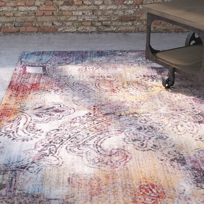 Foresta Red/Yellow Area Rug Rug Size: Round 7