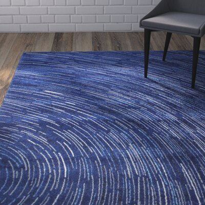 Reasor Dark Blue Area Rug Rug Size: Rectangle 36 x 56