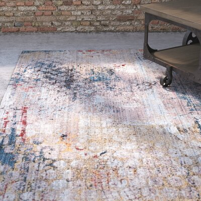 Foresta Blue/Beige Area Rug Rug Size: Rectangle 51 x 76