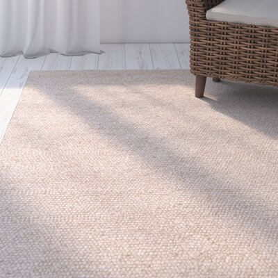 Gladeview Hand-Woven Wool/Cotton Beige Area Rug