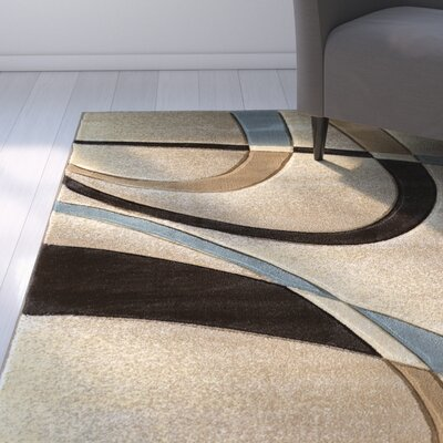 Havana Beige Area Rug Rug Size: Rectangle 53 x 76