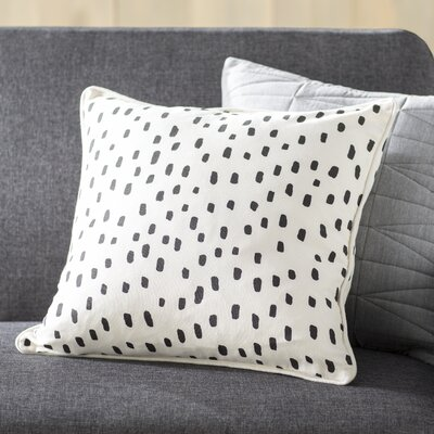 Carnell Dalmatian Dot Cotton Throw Pillow Cover Color: White/ Black