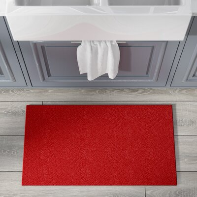 Comfort Kitchen Mat Size: Rectangle 20 x 36, Color: Red