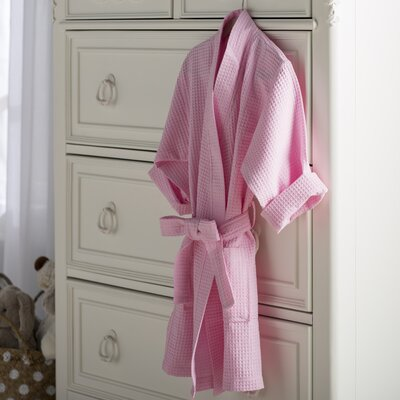 Noelle Waffle Kimono Robe Size: Kids (Age 3-6) - Small Medium, Color: Pink