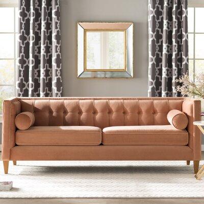 Harcourt Chesterfield Sofa Upholstery: Orange