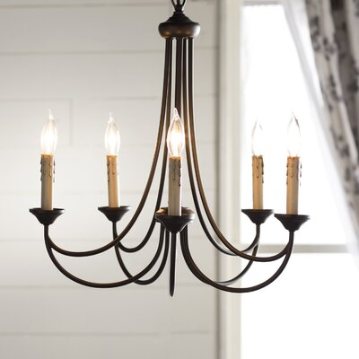 Hewlett 5-Light Candle-Style Chandelier Finish: Oiled Bronze