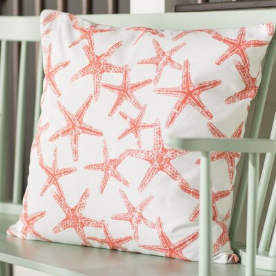 Nowayton Ilene 100% Cotton Throw Pillow Color: Salmon, Size: 22 x 22