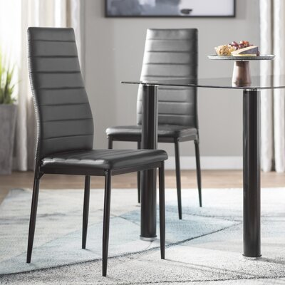 Aubree Side Chair (Set of 2) Finish: Black