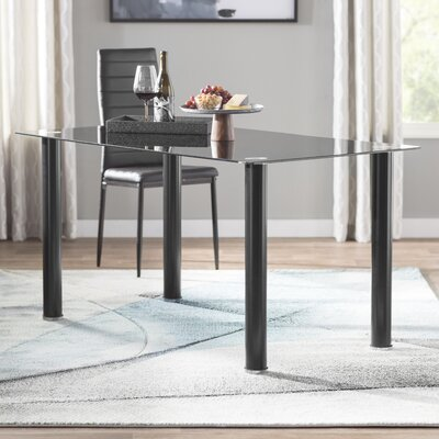 Aubree Dining Table Finish: Black