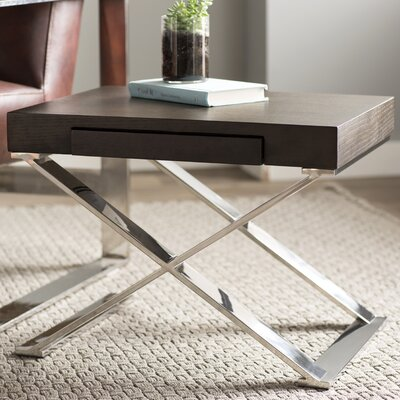 Roreti End Table With Storage Color: Espresso