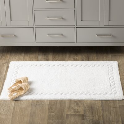 Boca Del Mar Bath Area Rug Size: 27 H x 45 W, Color: White