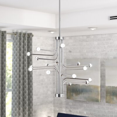Dittrich 16-Light LED Sputnik Chandelier Finish: Chrome
