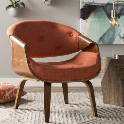 Lisburn Curvo Barrel Chair Upholstery: Orange