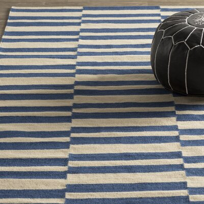Cory Geometric Navy/Ivory Area Rug Rug Size: Rectangle 36 x 56