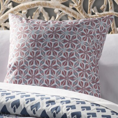 Viet Mosaic Indoor/Outdoor Throw Pillow Size: 18 H x 18 W, Color: Coral