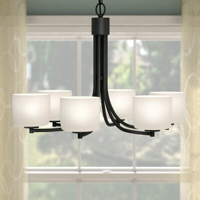 Rosalin 6-Light Shaded Chandelier Finish: Aged Bronze Brushed