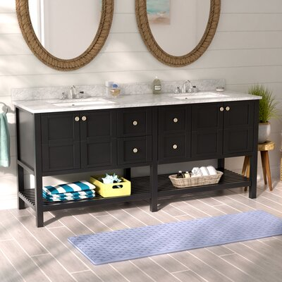 Caldwell 72 Double Vanity Set Base Finish: Black