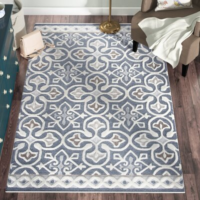Nordmeyer Hand-Tufted Blue/Gray Area Rug Rug Size: Rectangle 5 x 8